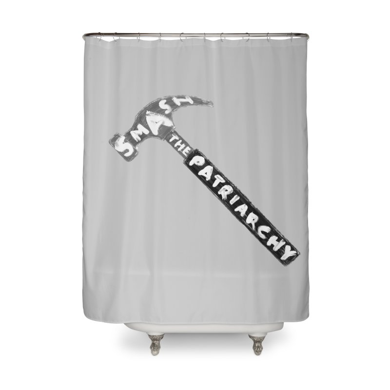 Smash The Patriarchy Home Shower Curtain by Martina Scott's Shop