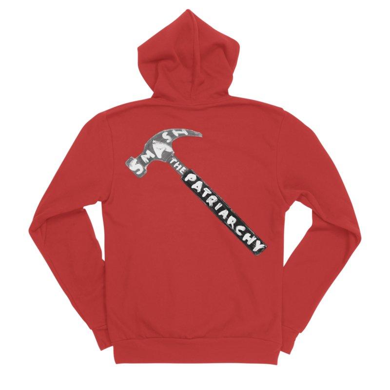 Smash The Patriarchy Men's Sponge Fleece Zip-Up Hoody by Martina Scott's Shop