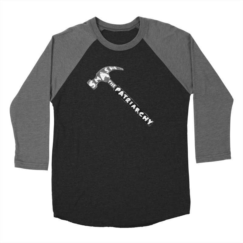 Smash The Patriarchy Women's Baseball Triblend Longsleeve T-Shirt by Martina Scott's Shop
