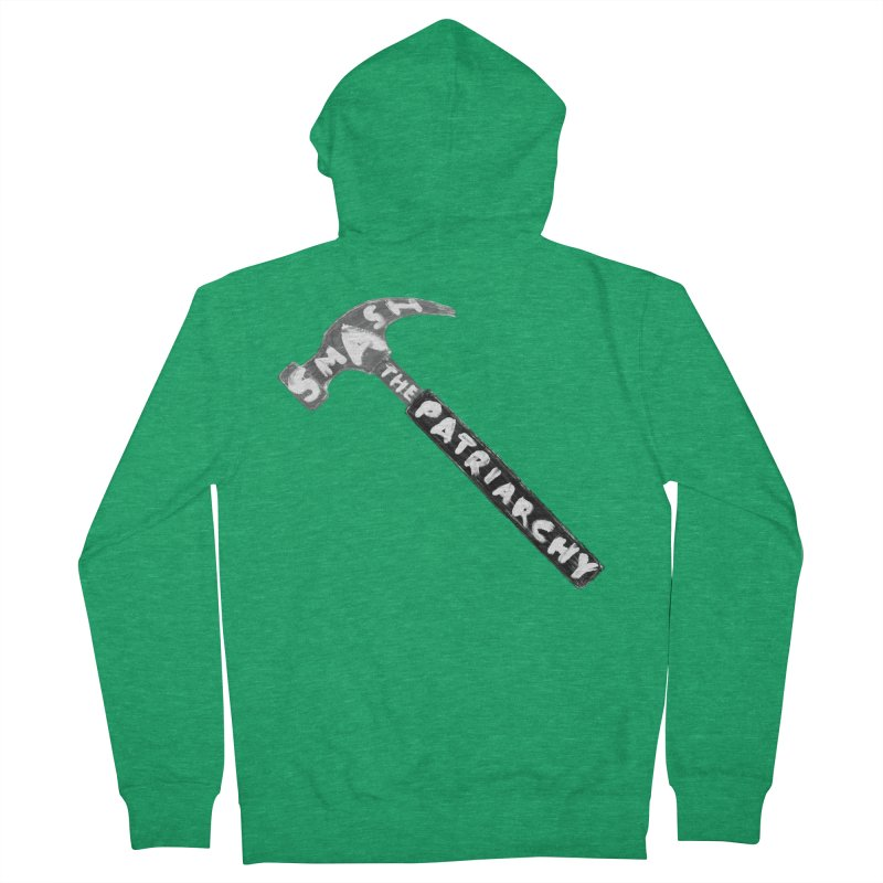 Smash The Patriarchy Men's French Terry Zip-Up Hoody by Martina Scott's Shop