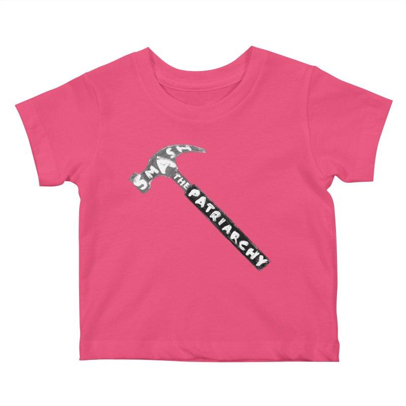 Smash The Patriarchy Kids Baby T-Shirt by Martina Scott's Shop
