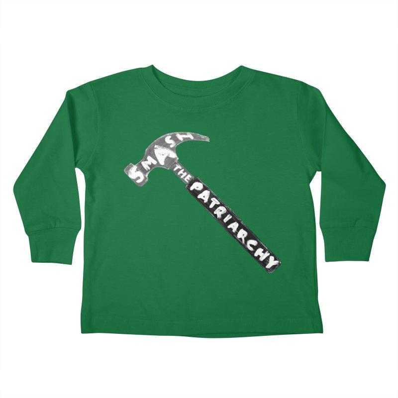 Smash The Patriarchy Kids Toddler Longsleeve T-Shirt by Martina Scott's Shop
