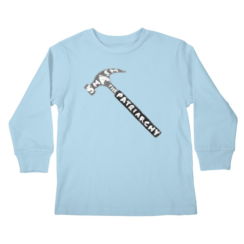 Smash The Patriarchy Kids Longsleeve T-Shirt by Martina Scott's Shop