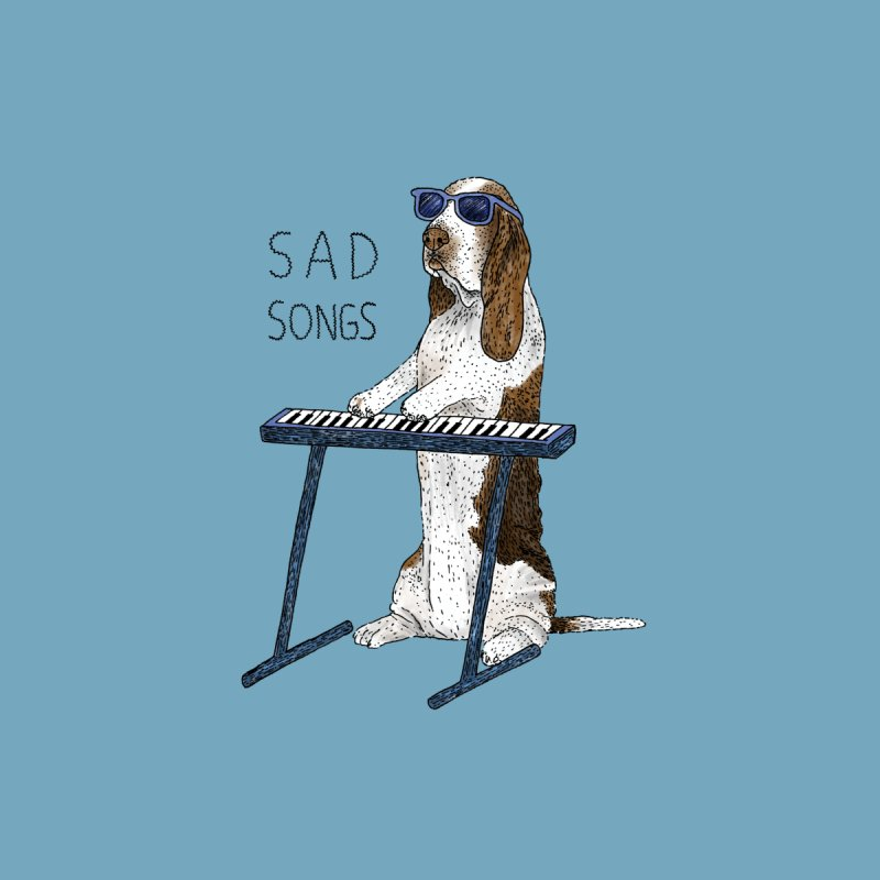 Sad Songs Men's Pullover Hoody by Martina Scott's Shop