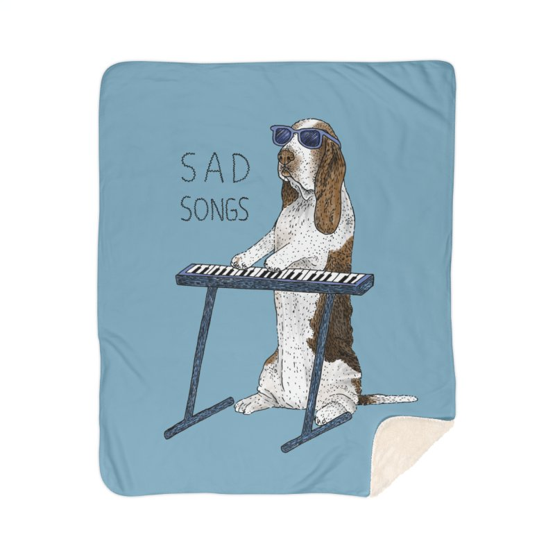 Sad Songs Home Sherpa Blanket Blanket by Martina Scott's Shop