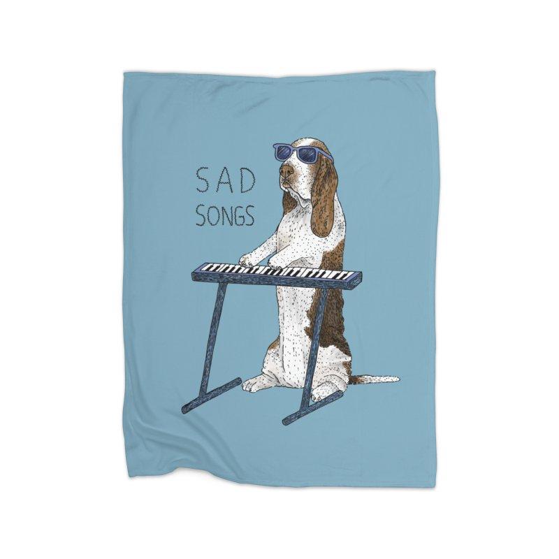 Sad Songs Home Fleece Blanket Blanket by Martina Scott's Shop