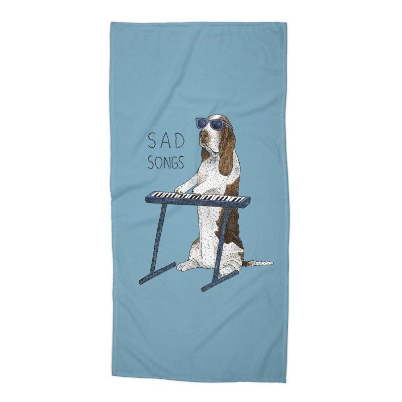 Sad Songs Accessories Beach Towel by Martina Scott's Shop
