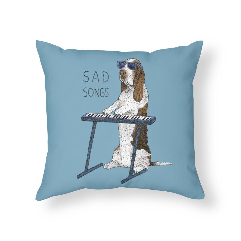Sad Songs Home Throw Pillow by Martina Scott's Shop