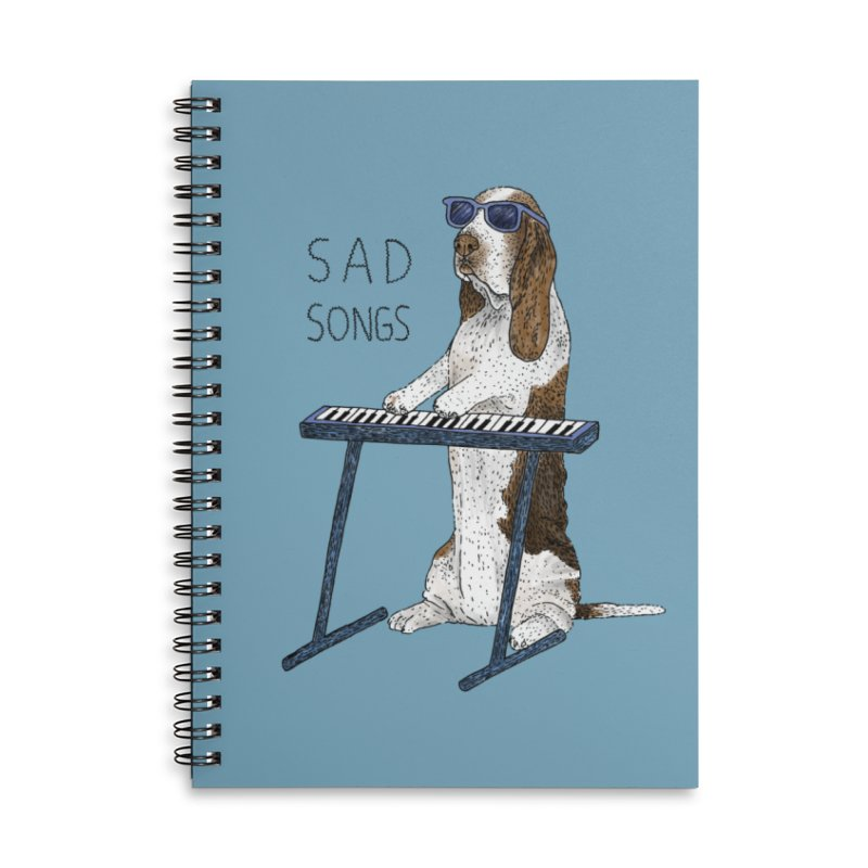 Sad Songs Accessories Lined Spiral Notebook by Martina Scott's Shop