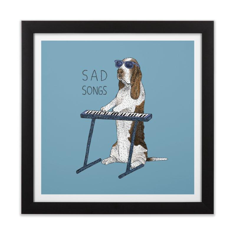 Sad Songs Home Framed Fine Art Print by Martina Scott's Shop