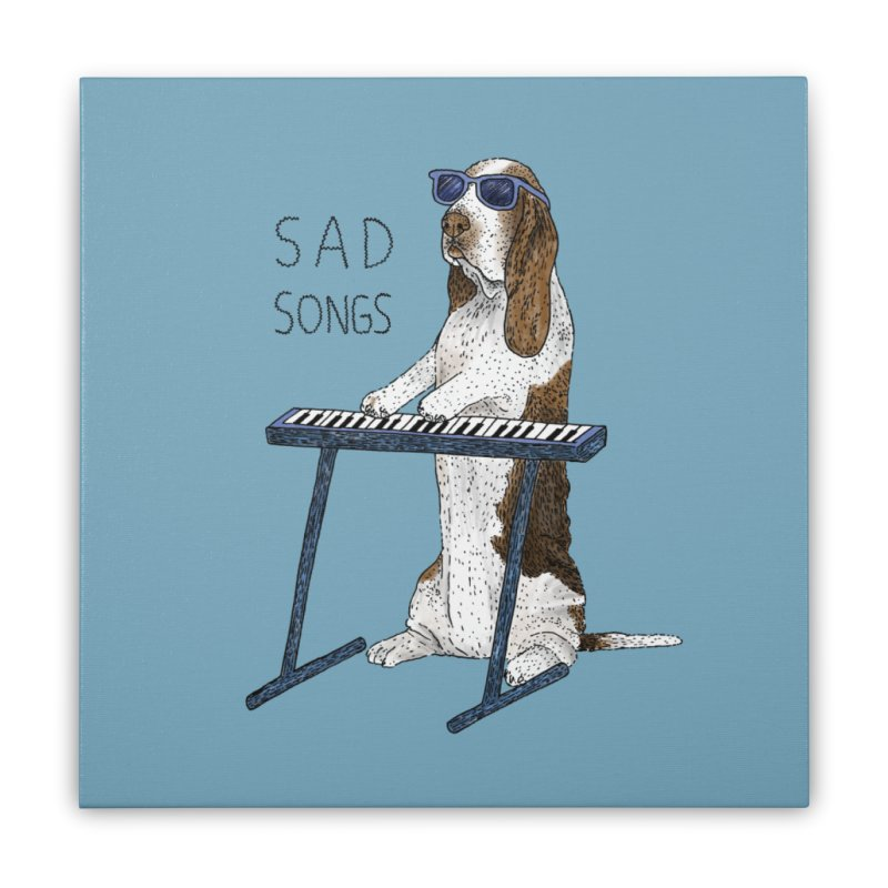Sad Songs Home Stretched Canvas by Martina Scott's Shop