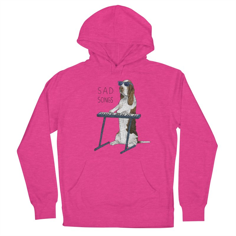 Sad Songs Women's French Terry Pullover Hoody by Martina Scott's Shop