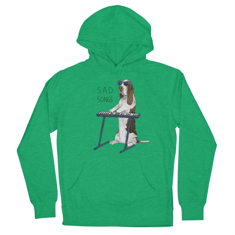 Sad Songs Men's French Terry Pullover Hoody by Martina Scott's Shop