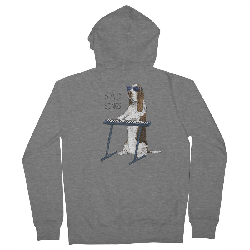 Sad Songs Women's French Terry Zip-Up Hoody by Martina Scott's Shop
