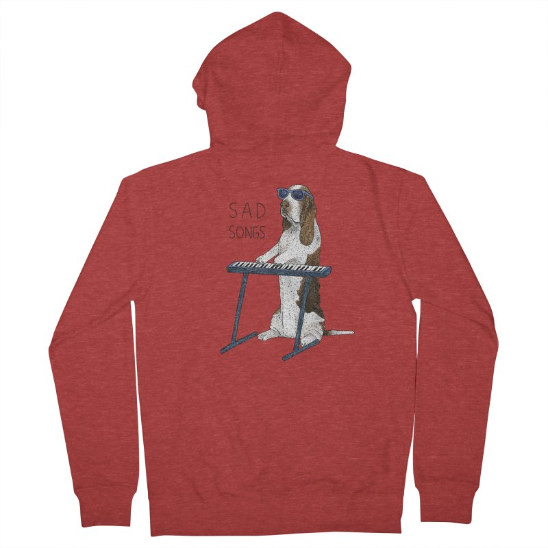 Sad Songs Men's French Terry Zip-Up Hoody by Martina Scott's Shop