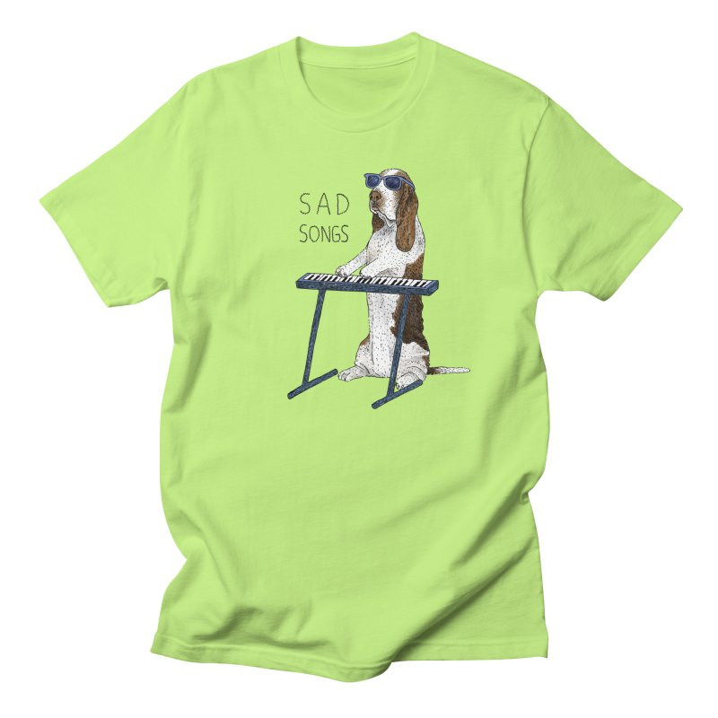 Sad Songs Women's Regular Unisex T-Shirt by Martina Scott's Shop