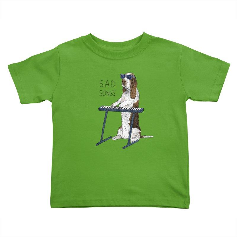 Sad Songs Kids Toddler T-Shirt by Martina Scott's Shop