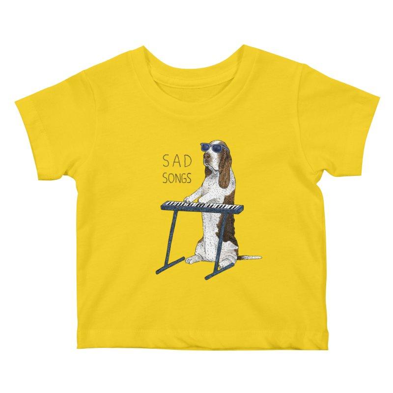 Sad Songs Kids Baby T-Shirt by Martina Scott's Shop