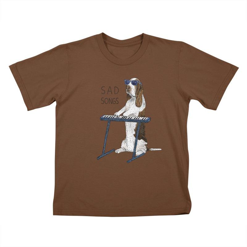 Sad Songs Kids T-Shirt by Martina Scott's Shop