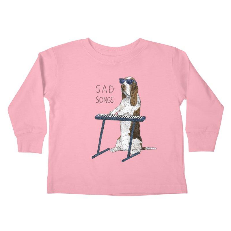 Sad Songs Kids Toddler Longsleeve T-Shirt by Martina Scott's Shop