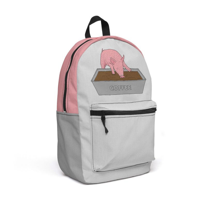Coffee Pig Accessories Backpack Bag by Martina Scott's Shop