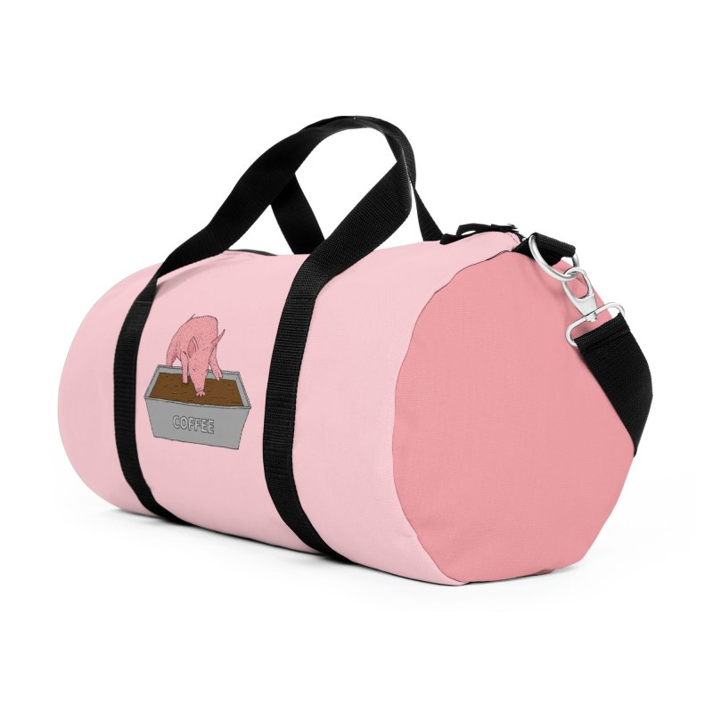 Coffee Pig Accessories Duffel Bag Bag by Martina Scott's Shop