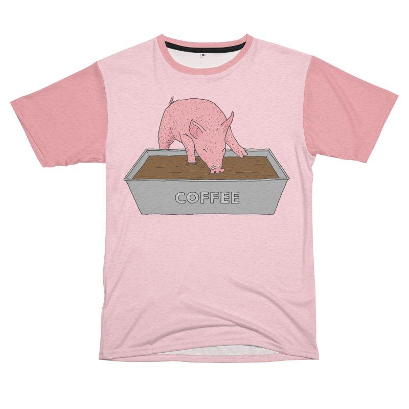 Coffee Pig Women's Unisex French Terry T-Shirt Cut & Sew by Martina Scott's Shop
