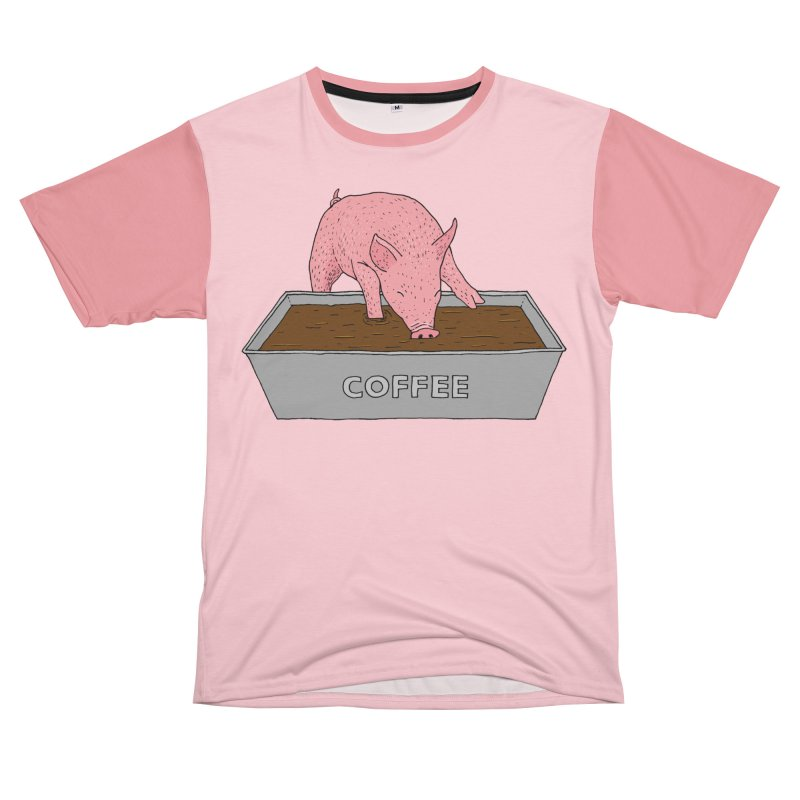 Coffee Pig Women's Unisex T-Shirt Cut & Sew by Martina Scott's Shop