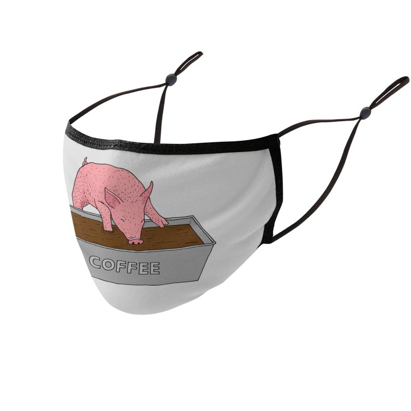 Coffee Pig Accessories Face Mask by Martina Scott's Shop