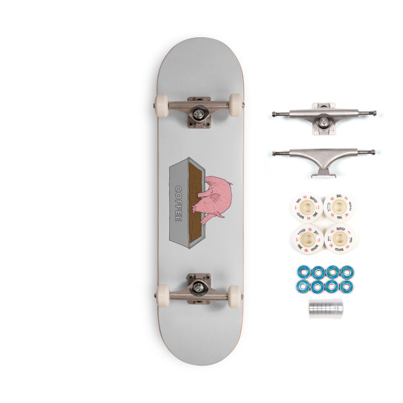 Coffee Pig Accessories Complete - Premium Skateboard by Martina Scott's Shop