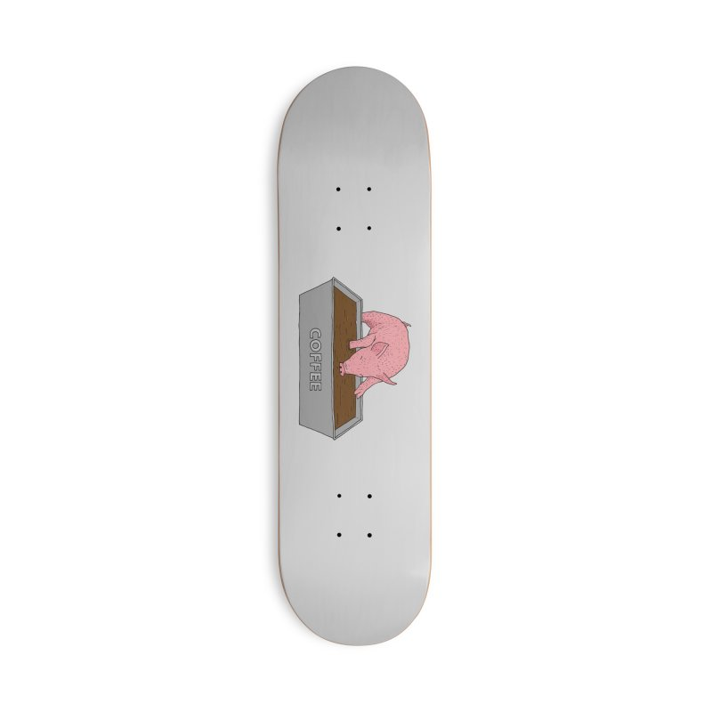Coffee Pig Accessories Deck Only Skateboard by Martina Scott's Shop