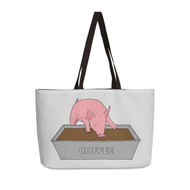 Coffee Pig Accessories Weekender Bag Bag by Martina Scott's Shop