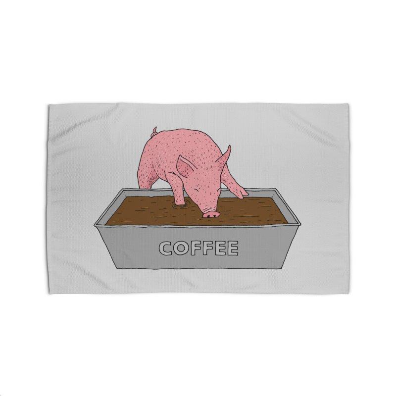 Coffee Pig Home Rug by Martina Scott's Shop