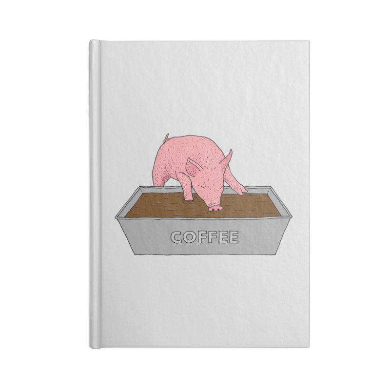 Coffee Pig Accessories Blank Journal Notebook by Martina Scott's Shop