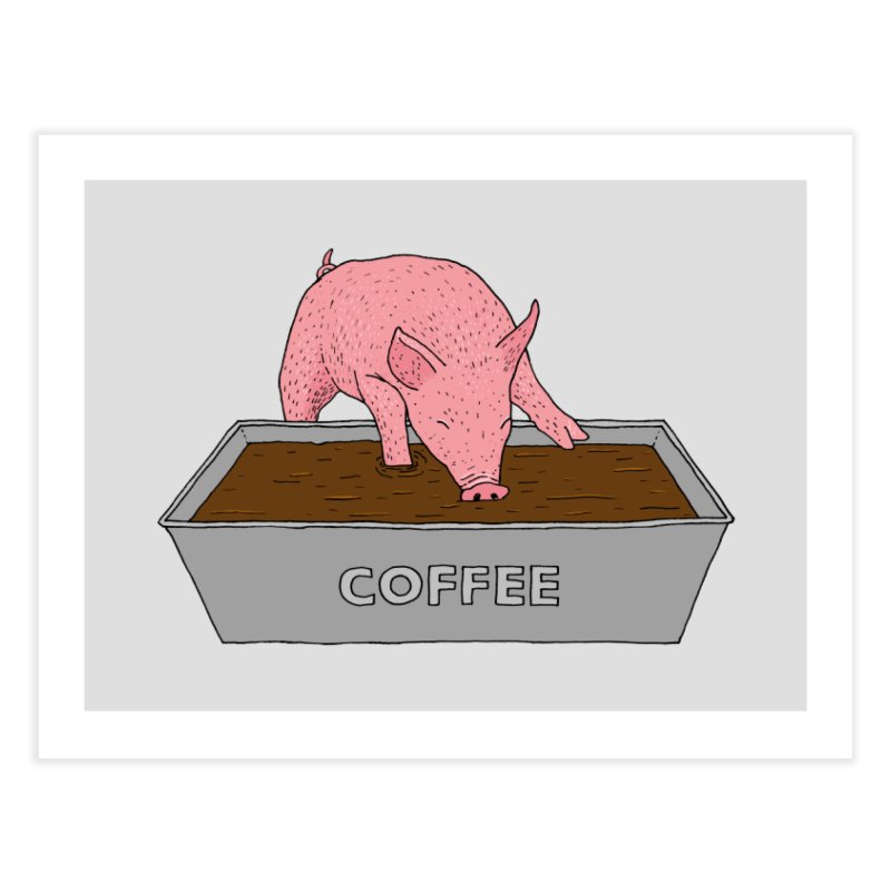 Coffee Pig Home Fine Art Print by Martina Scott's Shop