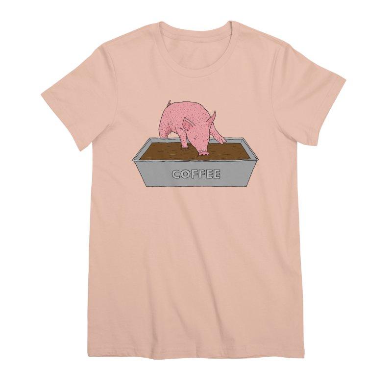 Coffee Pig Women's Premium T-Shirt by Martina Scott's Shop