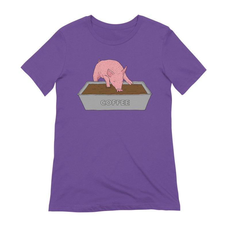 Coffee Pig Women's Extra Soft T-Shirt by Martina Scott's Shop
