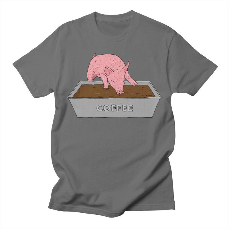 Coffee Pig Men's T-Shirt by Martina Scott's Shop