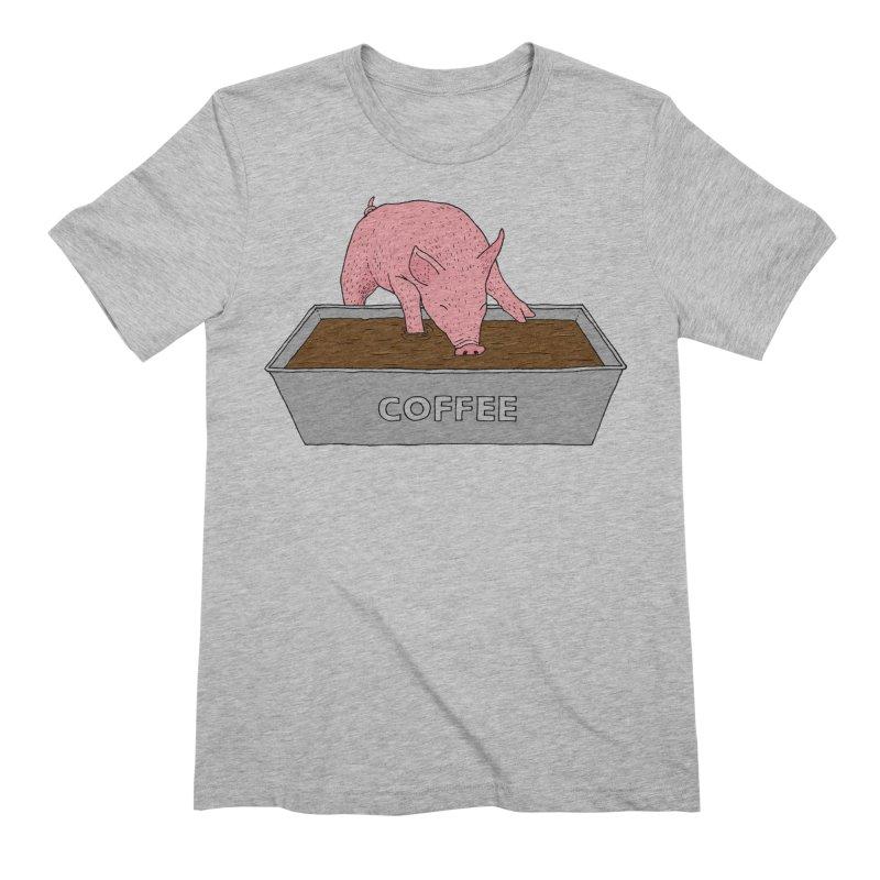 Coffee Pig Men's Extra Soft T-Shirt by Martina Scott's Shop