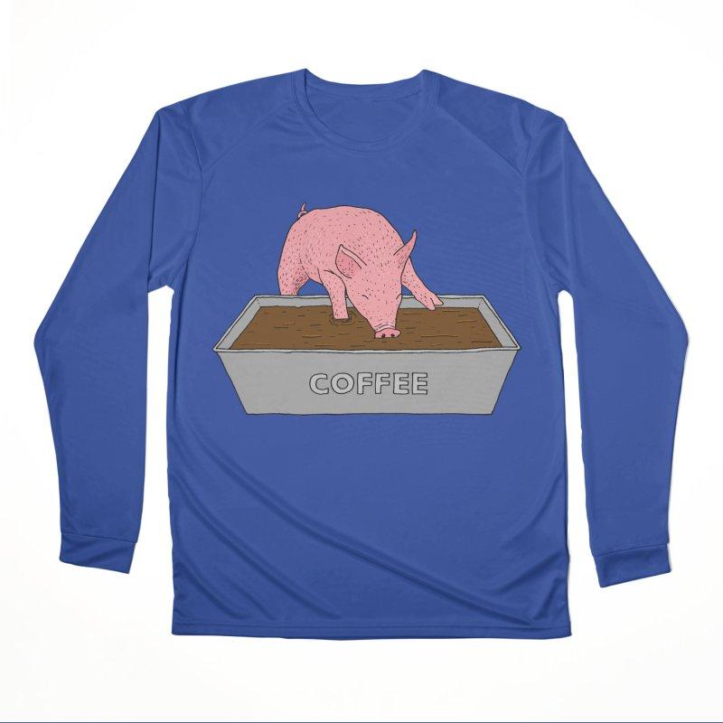 Coffee Pig Men's Performance Longsleeve T-Shirt by Martina Scott's Shop