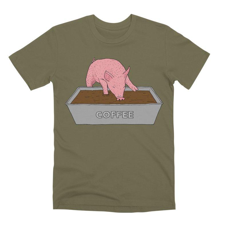 Coffee Pig Men's Premium T-Shirt by Martina Scott's Shop