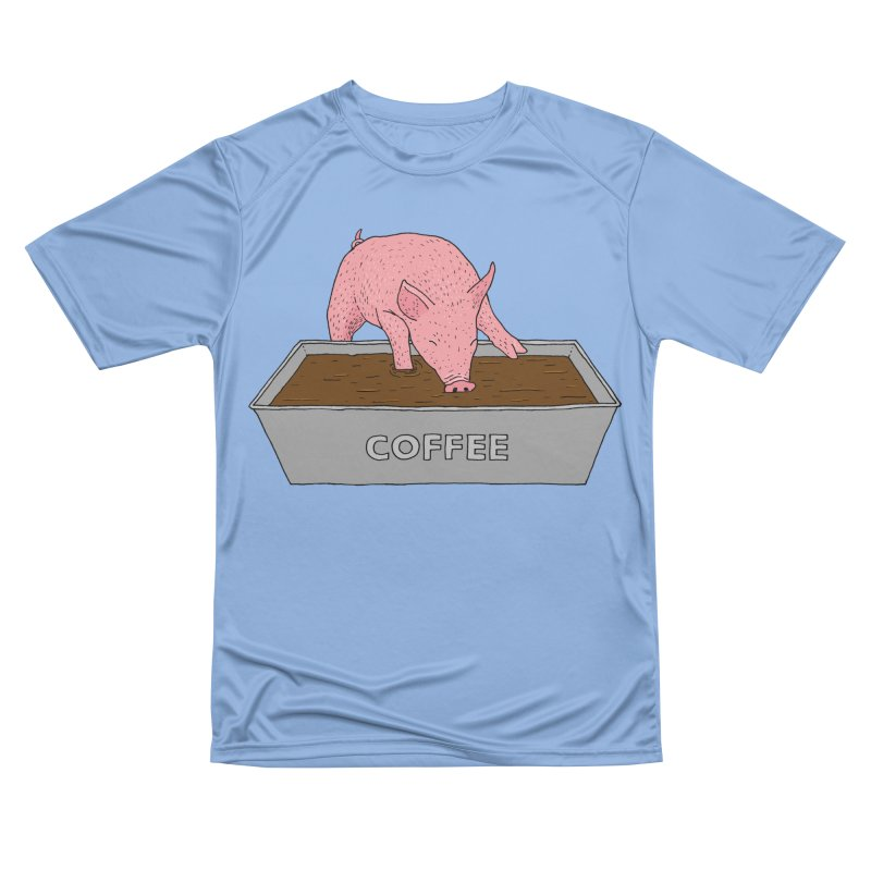 Coffee Pig Men's Performance T-Shirt by Martina Scott's Shop