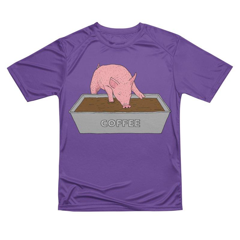 Coffee Pig Women's Performance Unisex T-Shirt by Martina Scott's Shop