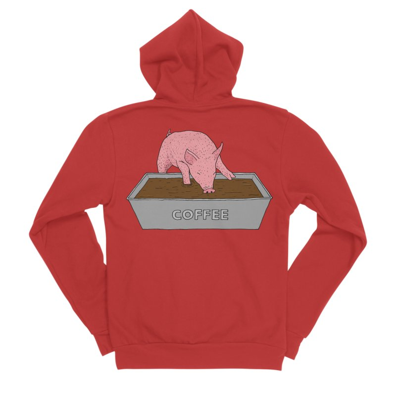 Coffee Pig Women's Zip-Up Hoody by Martina Scott's Shop