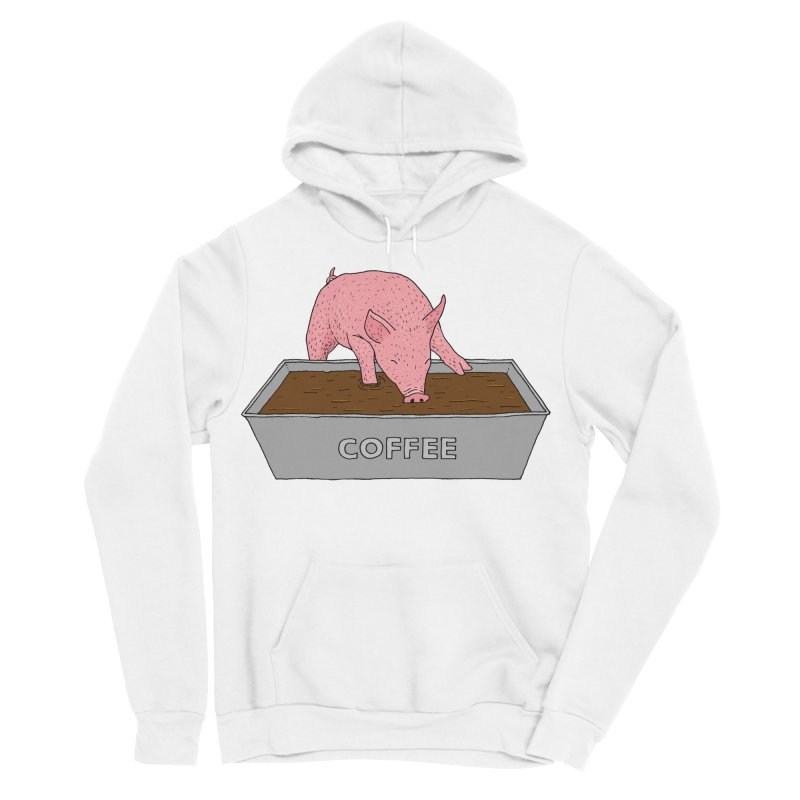 Coffee Pig Women's Sponge Fleece Pullover Hoody by Martina Scott's Shop