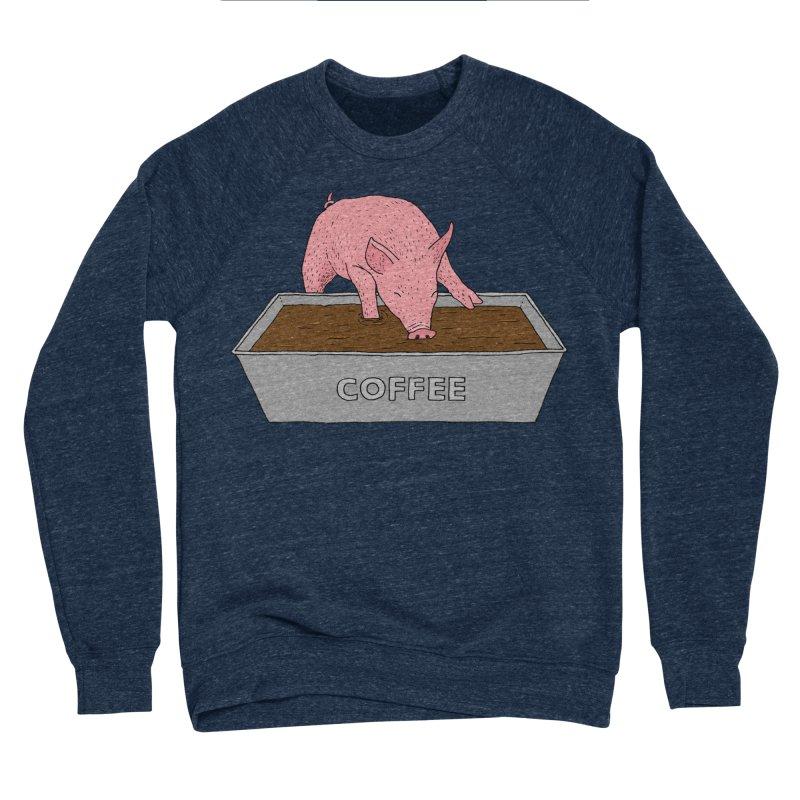 Coffee Pig Men's Sponge Fleece Sweatshirt by Martina Scott's Shop
