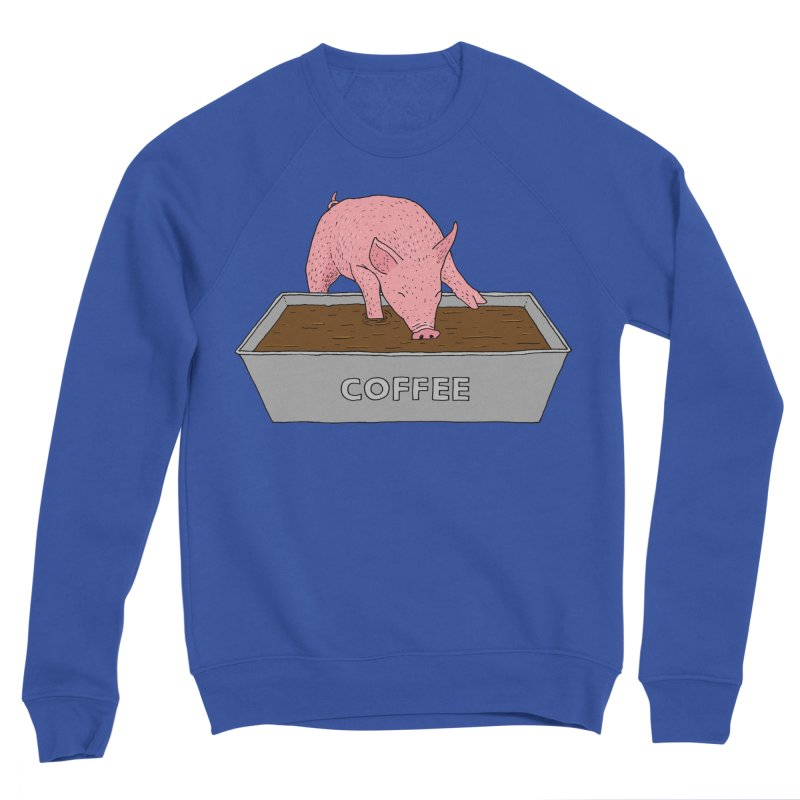 Coffee Pig Men's Sponge Fleece Sweatshirt by Martina Scott's Shop