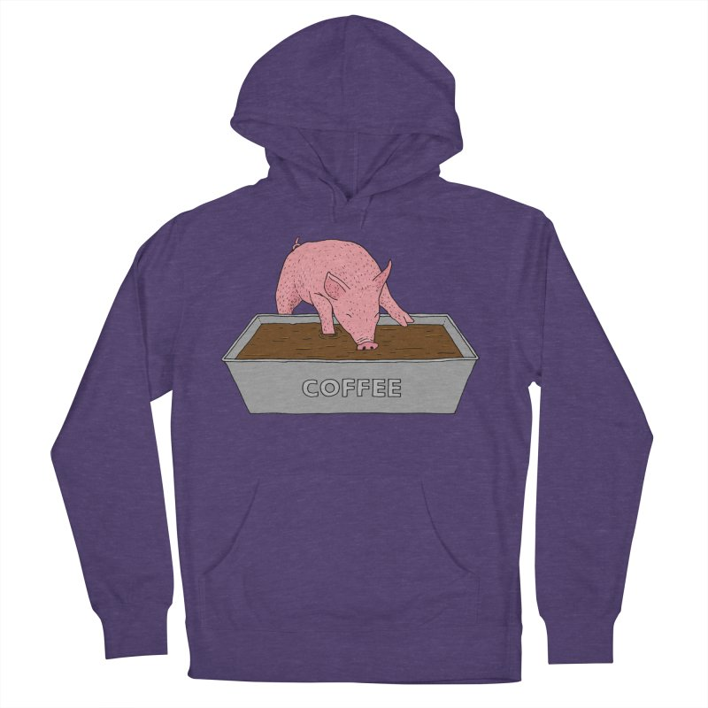 Coffee Pig Women's French Terry Pullover Hoody by Martina Scott's Shop