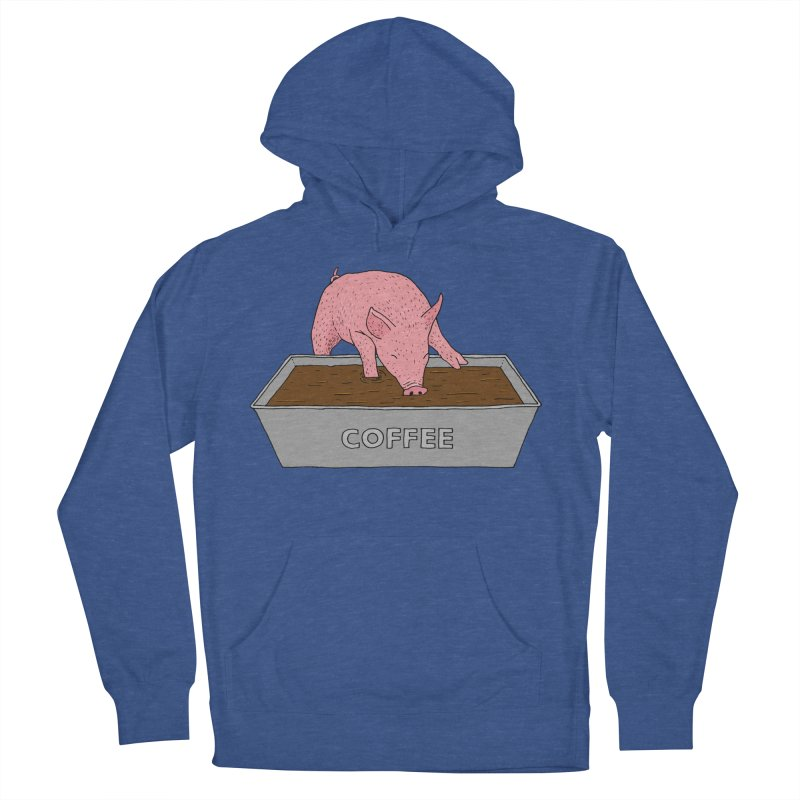 Coffee Pig Men's French Terry Pullover Hoody by Martina Scott's Shop