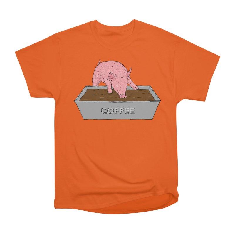 Coffee Pig Women's Heavyweight Unisex T-Shirt by Martina Scott's Shop